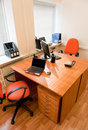 Modern office interior - workplace Stock Images