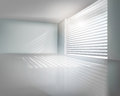 Modern office vector illustration window with blinds in room Stock Images