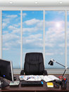Modern office with a view of sky Royalty Free Stock Image