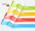 Modern origami style infographic and options banne banner vector diagram web design layout eps illustration Royalty Free Stock Image
