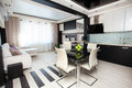 Modern parlour interior kitchen hall Royalty Free Stock Photos
