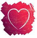 Modern pink and red grunge heart Stock Image
