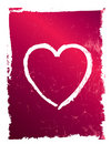 Modern pink and red grunge heart, vector Royalty Free Stock Photography