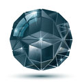 Modern plastic dimensional symmetric construction with sparkles complicated textured glossy eps globe Royalty Free Stock Photography