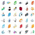 Modern post office icons set, isometric style Royalty Free Stock Photo
