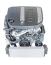Modern powerful flagship model of BMW TwinPower turbo diesel engine Royalty Free Stock Photo