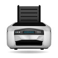 Modern printer electronic device object isolated Royalty Free Stock Photo