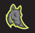 Modern professional logo with Donkey for a sport team.