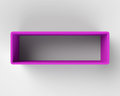 Modern purple book shelf on the wall light gray Royalty Free Stock Photography