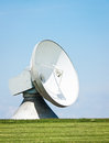Modern radio telescope satelite dish Royalty Free Stock Images
