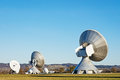 Modern radio telescope satelite dish Stock Images