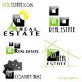 Modern real estate icons for business design vector illustration Stock Image