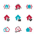 Modern Real Estate Sign Home Vector Design Symbol House Vector Icon. EPS10 Royalty Free Stock Photo