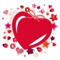 Modern red heart-shaped frame Stock Photo