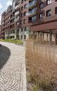 Modern residential area backyard of gdańsk poland Royalty Free Stock Photo