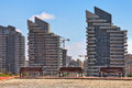 Modern residential buildings in ashdod israel complex of contemporary city Royalty Free Stock Images