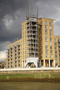 Modern Riverside Flats London Royalty Free Stock Images