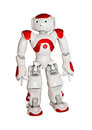 Modern robot toy isolated on white Royalty Free Stock Photo