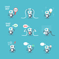Modern Robots Icons Set Chat Bot Artificial Intelligence Technology Concept Royalty Free Stock Photo
