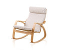 Modern rocking chair on white background Stock Images