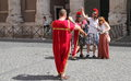 Modern roman soldiers a funny way to get roma souvenir Royalty Free Stock Photos