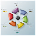 Modern rotate propeller three dimension polygon business infogra infographic design template Stock Photos