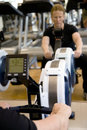 Modern rowing machine Royalty Free Stock Image