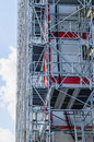 Modern scaffold metallic in a building construction industry Royalty Free Stock Image