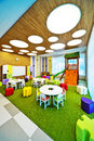 Modern school interior new look for Stock Image