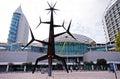 Modern  Sculpture and Vasco da Gama Shopping Centre, Lisbon, Por Royalty Free Stock Photo