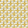 Modern seamless pattern with brush stripes and cross.Black, Gold metallic color on white background. Golden glitter Royalty Free Stock Photo