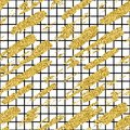 Modern seamless pattern with glitter brush stripes and strokes. Golden, black color on white background. Hand painted Royalty Free Stock Photo