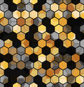 Modern Seamless pattern of Hexagons multicolor abstract geometric background. Royalty Free Stock Photo