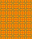 Modern seamless pattern with squares of blue, orange and yellow Royalty Free Stock Photo