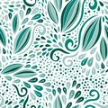 Modern seamless pattern. Turquoise nature ornament. Vector print for textile or packaging design.