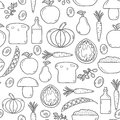 Modern seamless vector background with objects in