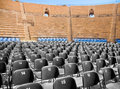 Modern seats in ancient amphitheater plastic roman Stock Photography