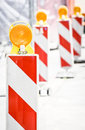 Modern security barrier construction site Royalty Free Stock Photography