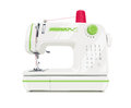 Modern sewing machine with red spool thread Royalty Free Stock Photo