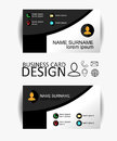 Modern simple business card template with flat user interface. Vector Design Royalty Free Stock Photo