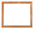 Modern simple flat wooden picture frame Royalty Free Stock Photo