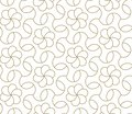 Modern simple geometric vector seamless pattern with gold line texture on white background. Light abstract floral
