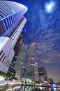 Modern Singapore city night view Stock Images
