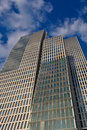 Modern Skyscraper Building with Clouds Royalty Free Stock Photo