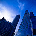 Modern skyscrapers at evening Royalty Free Stock Photo