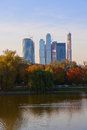 Modern skyscrapers at Moscow City Russia Stock Images