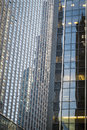 Modern skyscrapers in new york city glass and steel Stock Images