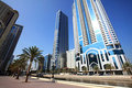 Modern skyscrapers in Sharjah. Royalty Free Stock Photography