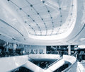 Modern sleek shopping architecture in mall Royalty Free Stock Photo