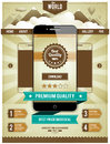 Modern smartphone on retro styled background with vintage ribbons cool web page design infographics elements vector illustration Stock Photo